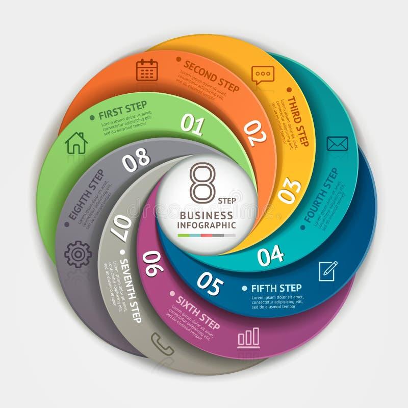 Современный стиль origami Infographics делового круга бесплатная иллюстрация
