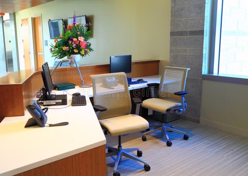 Современный стол Recpetion стоковое фото rf