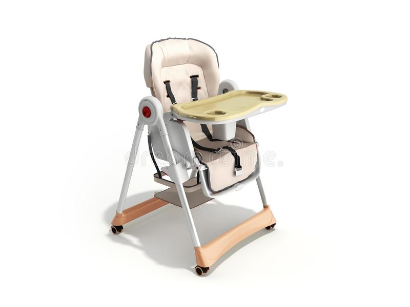 современный стул младенца для подавать 3d представляет изображение для рекламировать дальше бесплатная иллюстрация