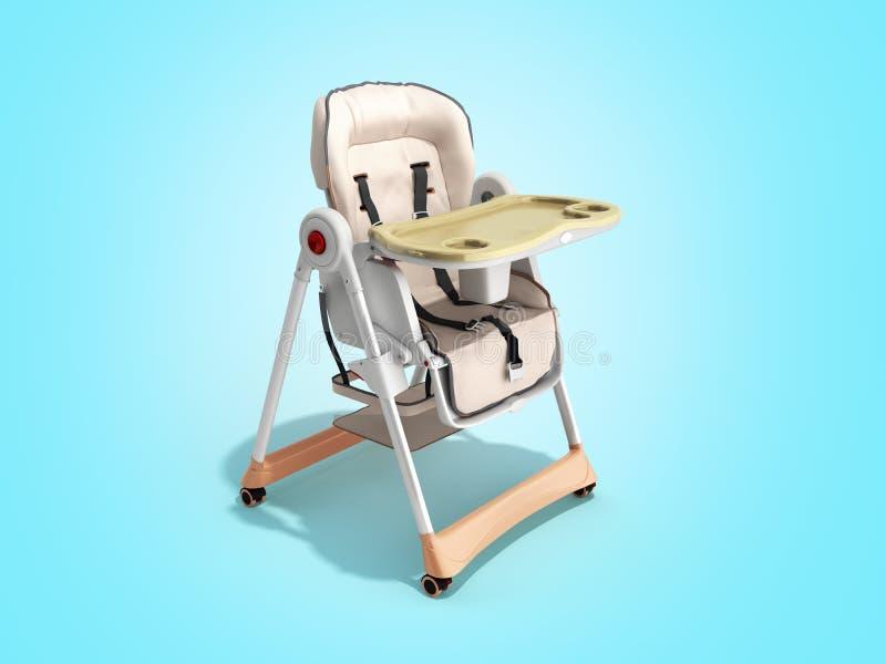 современный стул младенца для подавать 3d представляет изображение для рекламировать дальше иллюстрация вектора