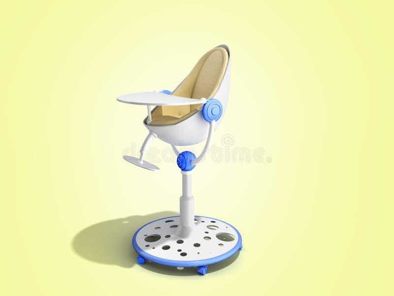 современный стул младенца для подавать 3d представляет изображение для рекламировать дальше иллюстрация штока