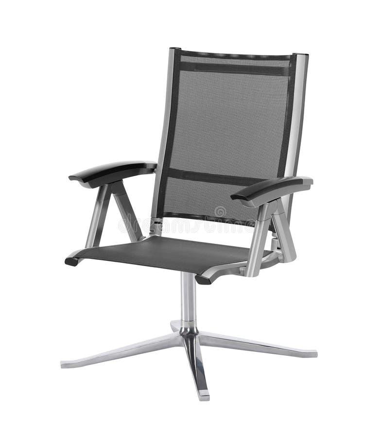 Современный стул офиса от черной кожи стоковая фотография