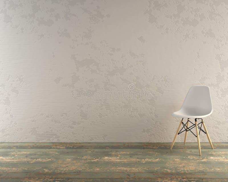 Современный стул в деревенской установке стоковое изображение rf