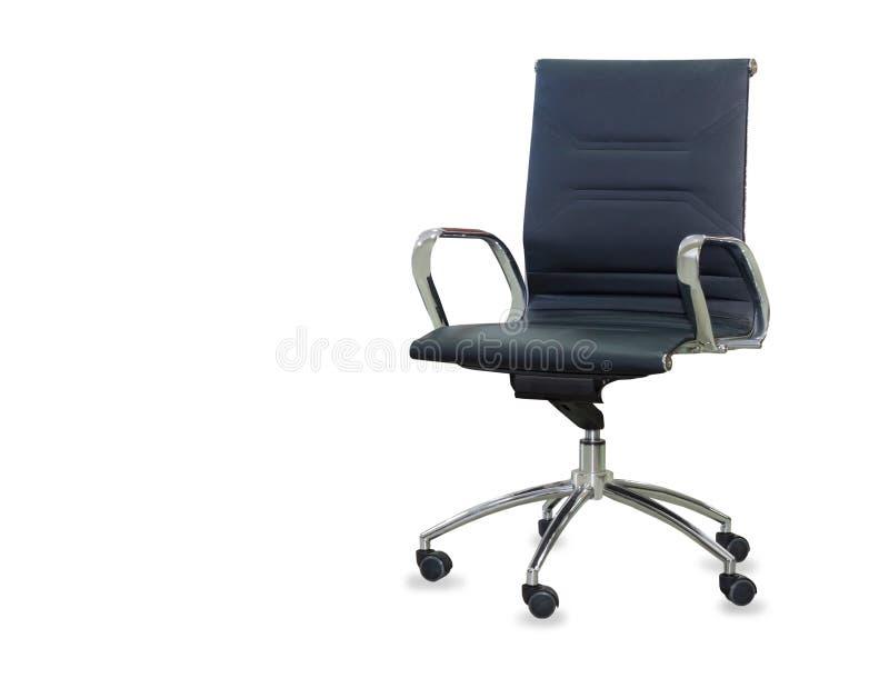 Современный стул офиса от черной кожи стоковые изображения