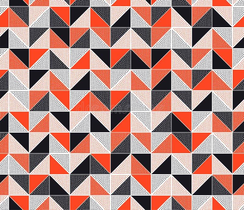 Современный творческий безшовный дизайн картины острой & стилизованной мозаики треугольника геометрический иллюстрация вектора