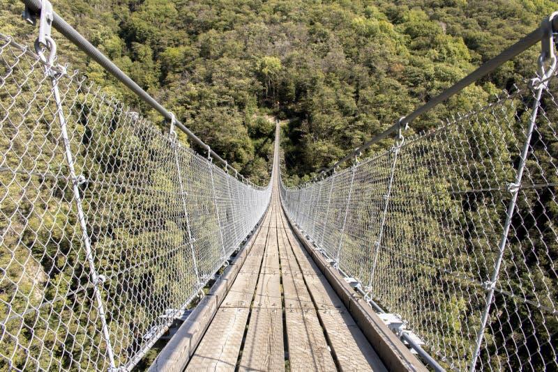 Современный тибетский мост стоковые изображения rf