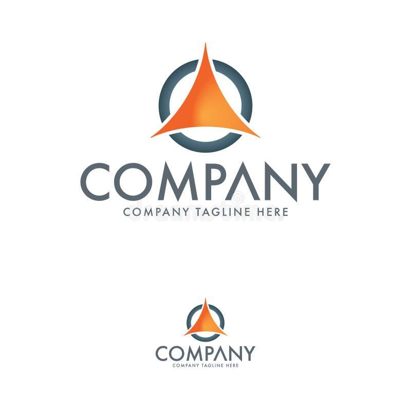Современный треугольник и пометить буквами шаблон логотипа иллюстрация штока