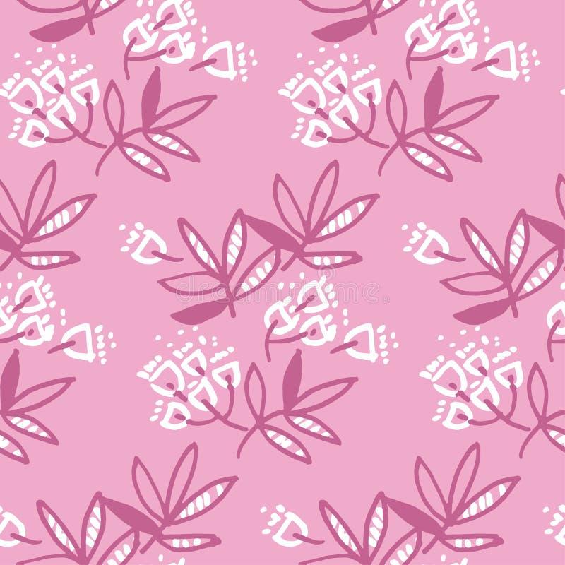 Современный флористический дизайн с тропическими абстрактными листьями иллюстрация штока