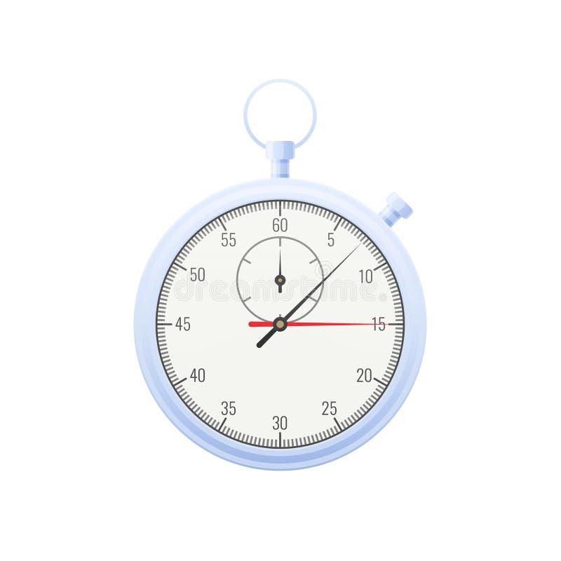 Современный цифровой вахта металла Секундомер с минутой и вторыми руками иллюстрация штока