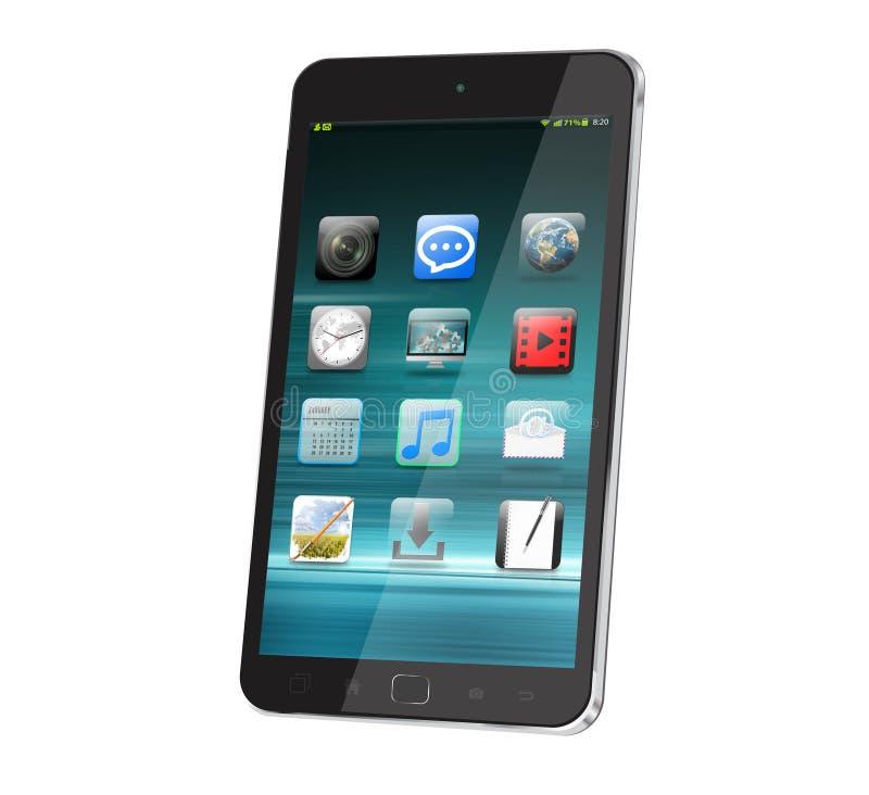Современный цифровой умный телефон иллюстрация вектора