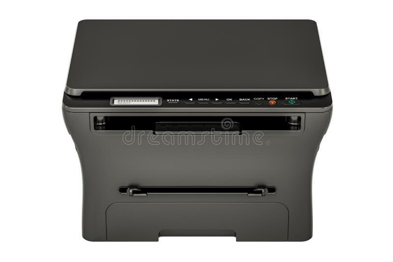 Современный черный многофункциональный принтер MFP, перевод 3D иллюстрация штока
