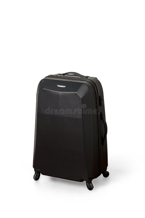 Современный черный чемодан стоковое фото rf