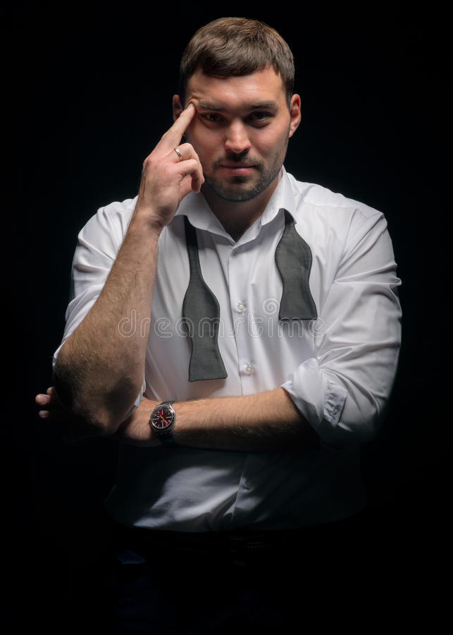 Современный человек в классическом стиле стоковые фотографии rf