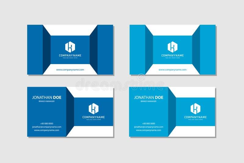 Современный шаблон векторной креативной и чистой визитной карточки - иллюстрация штока