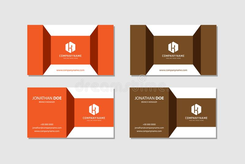 Современный шаблон векторной креативной и чистой визитной карточки бесплатная иллюстрация
