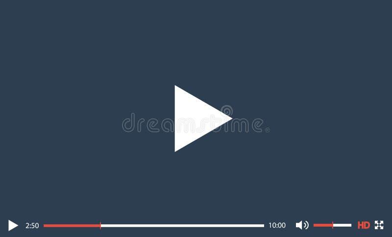 Современный шаблон дизайна видео-плейер для сети и передвижных apps Плоский стиль также вектор иллюстрации притяжки corel EPS10 бесплатная иллюстрация