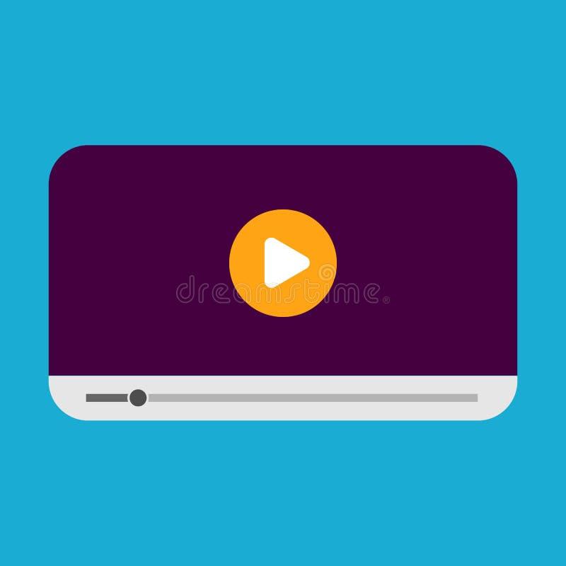 Современный шаблон дизайна видео-плейер для стиля сети и передвижных apps плоского также вектор иллюстрации притяжки corel бесплатная иллюстрация