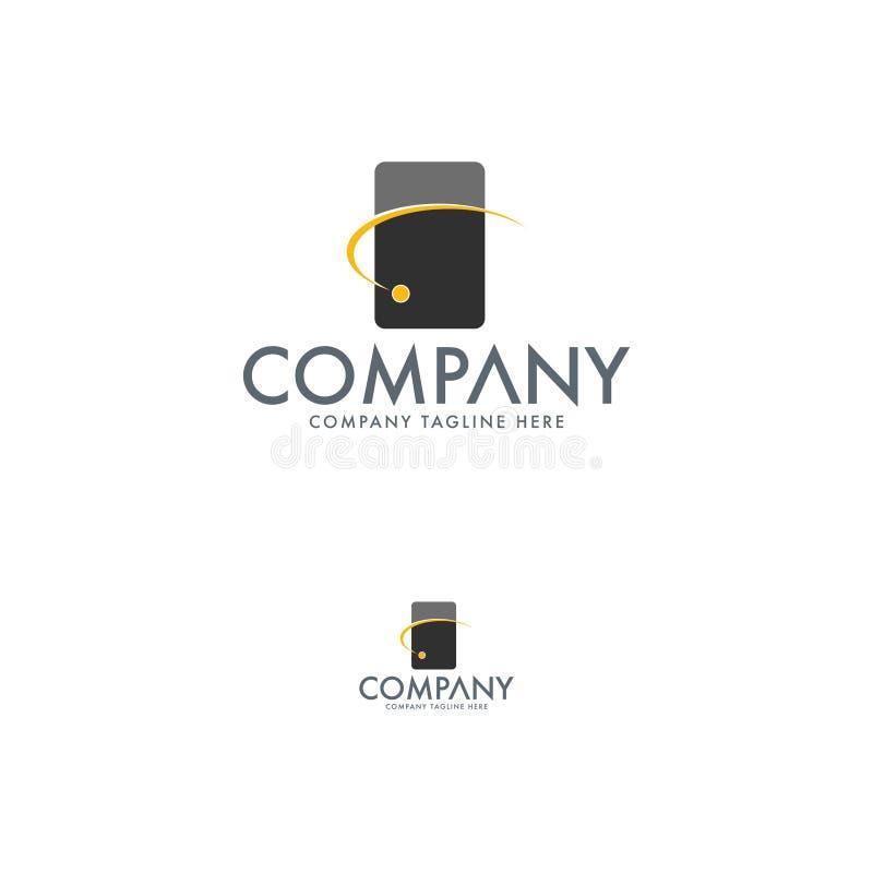 Современный шаблон дизайна логотипа связи бесплатная иллюстрация