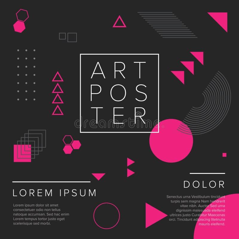 Современный шаблон плаката искусства геометрии иллюстрация вектора