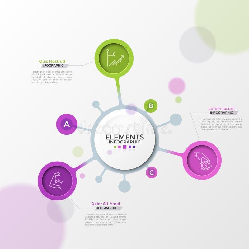 Современный шаблон Infographic стоковое фото rf