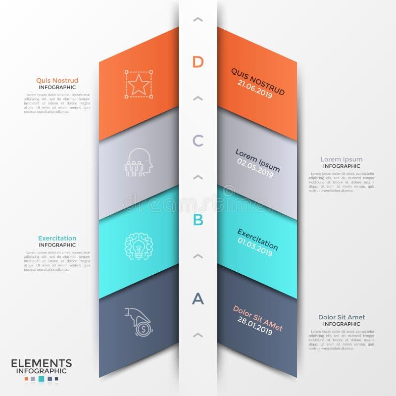 Современный шаблон Infographic стоковая фотография rf