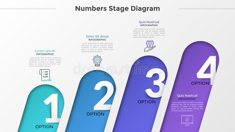 Современный шаблон Infographic стоковые изображения rf
