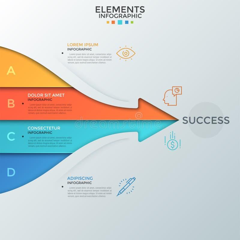 Современный шаблон Infographic бесплатная иллюстрация