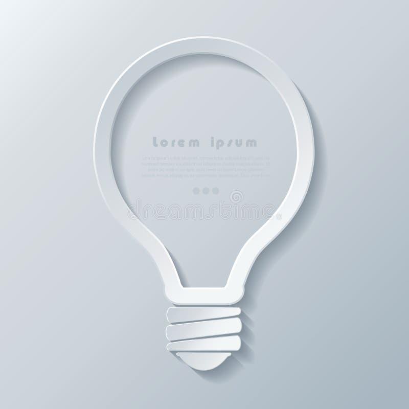 Современный шаблон знамени значка лампочки идеи иллюстрация штока