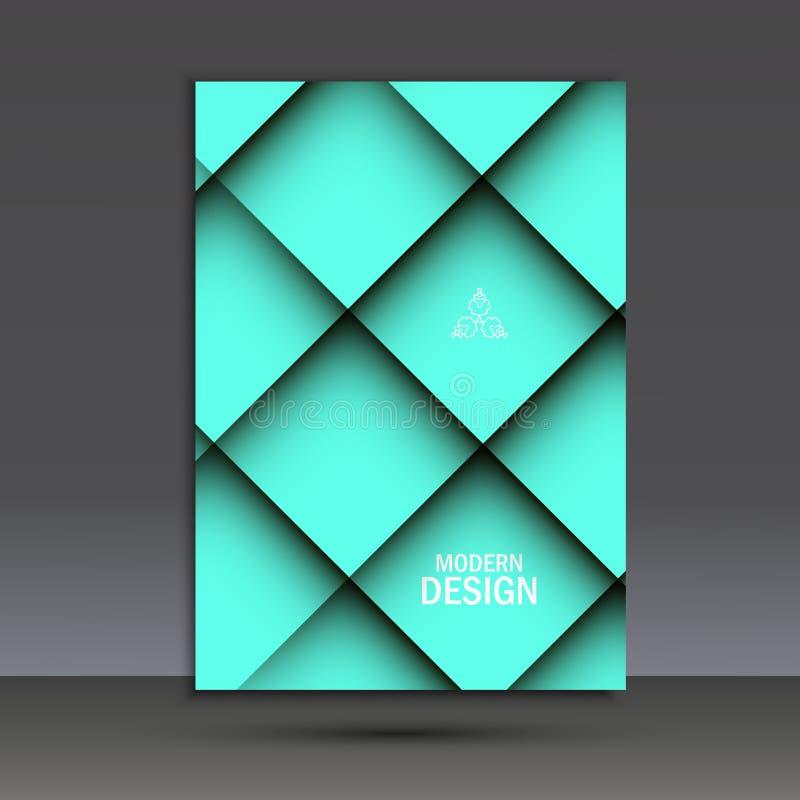 Современный шаблон дизайна брошюры вектора с абстрактной линией иллюстрация вектора