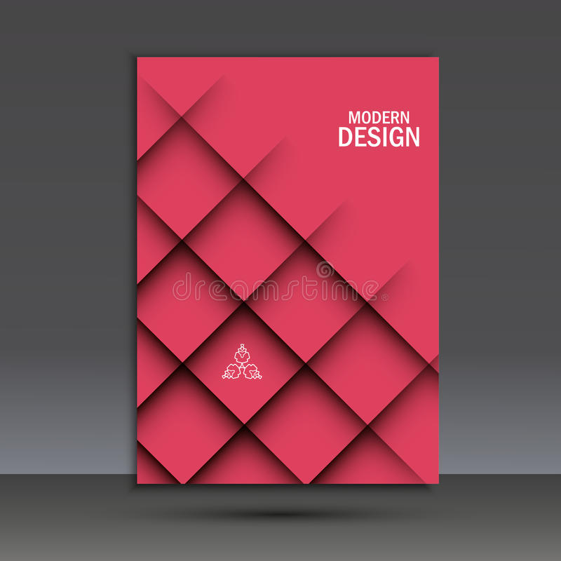 Современный шаблон дизайна брошюры вектора с абстрактной линией иллюстрация штока