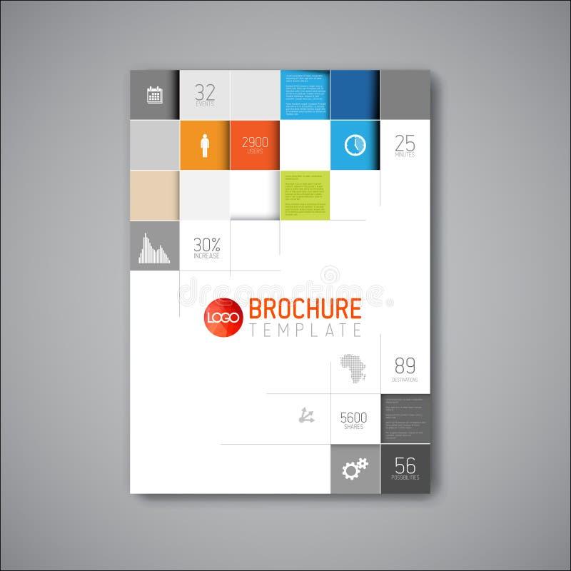 Современный шаблон дизайна брошюры конспекта вектора иллюстрация вектора