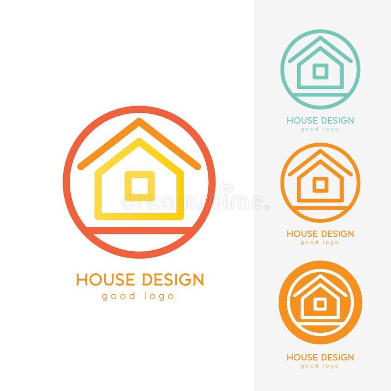 Современный шаблон дизайна логотипа дома плоско простой стоковые изображения