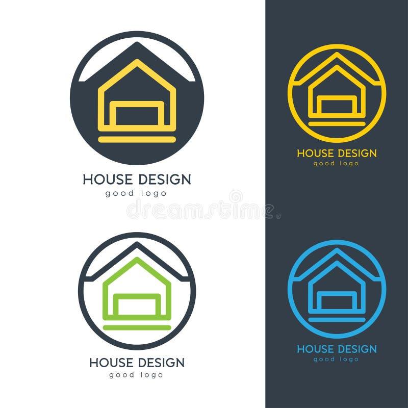 Современный шаблон дизайна логотипа дома плоско простой иллюстрация штока
