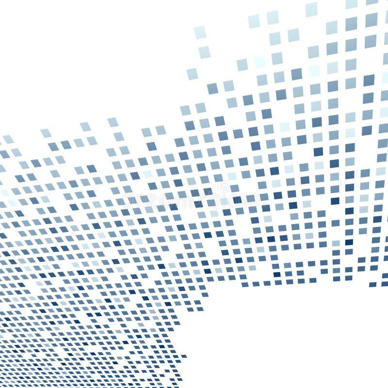 Современный шаблон предпосылки плитки в синем иллюстрация вектора