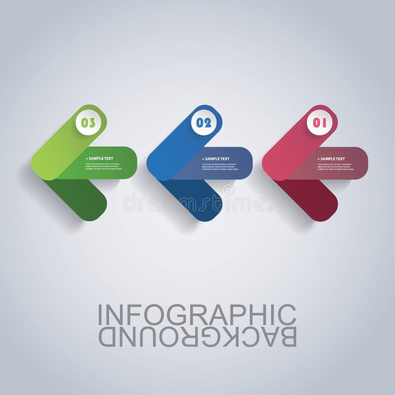 Современный шаблон Infographic дела - абстрактные формы стрелки иллюстрация штока