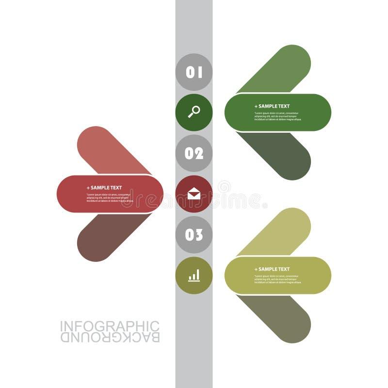 Современный шаблон Infographic дела - минимальный дизайн срока иллюстрация вектора