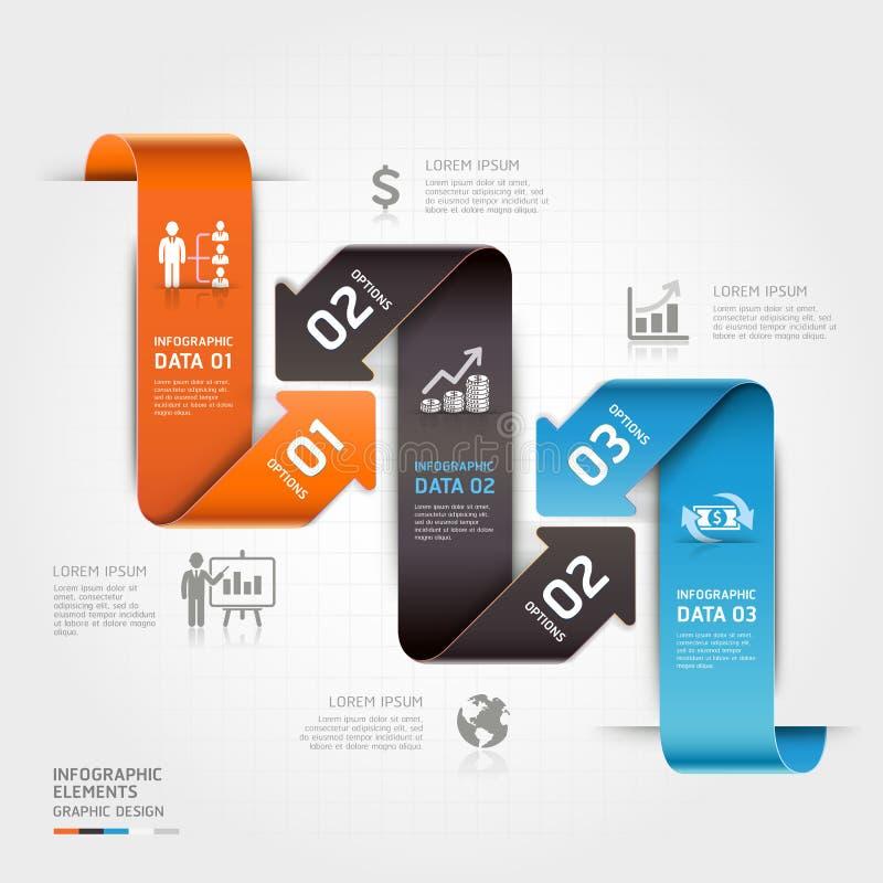Современный шаблон infographics стрелки дела. иллюстрация вектора