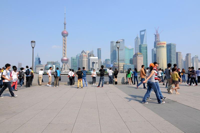 Современный Шанхай стоковое фото rf