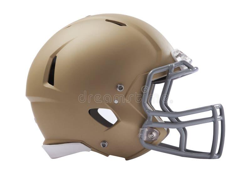 Современный шлем американского футбола изолированный на белизне стоковая фотография