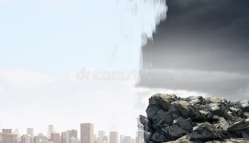 Download Современный штиль городской жизни или сельской местности Мультимедиа Стоковое Изображение - изображение насчитывающей backhoe, развитие: 81807507