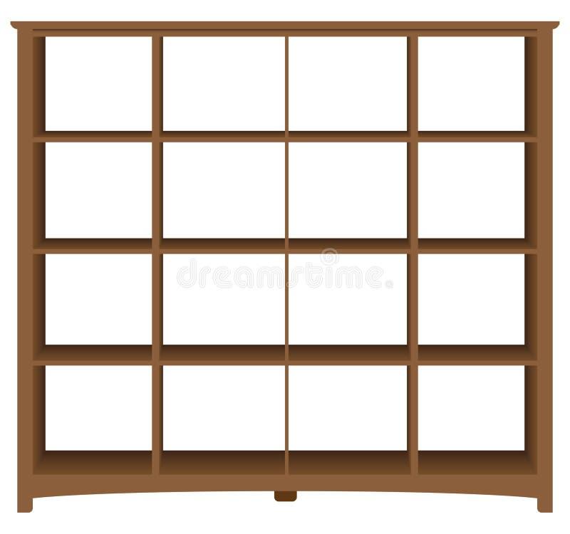 Современный bookcase офиса с квадратными клетками бесплатная иллюстрация
