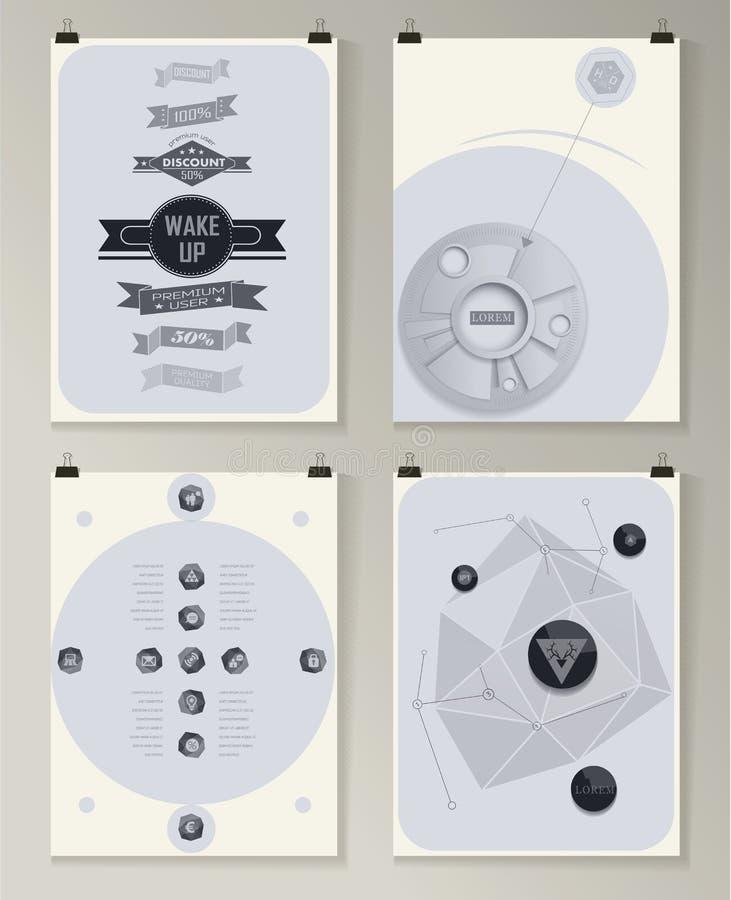 Современный infographic плакат Справочная информация иллюстрация штока