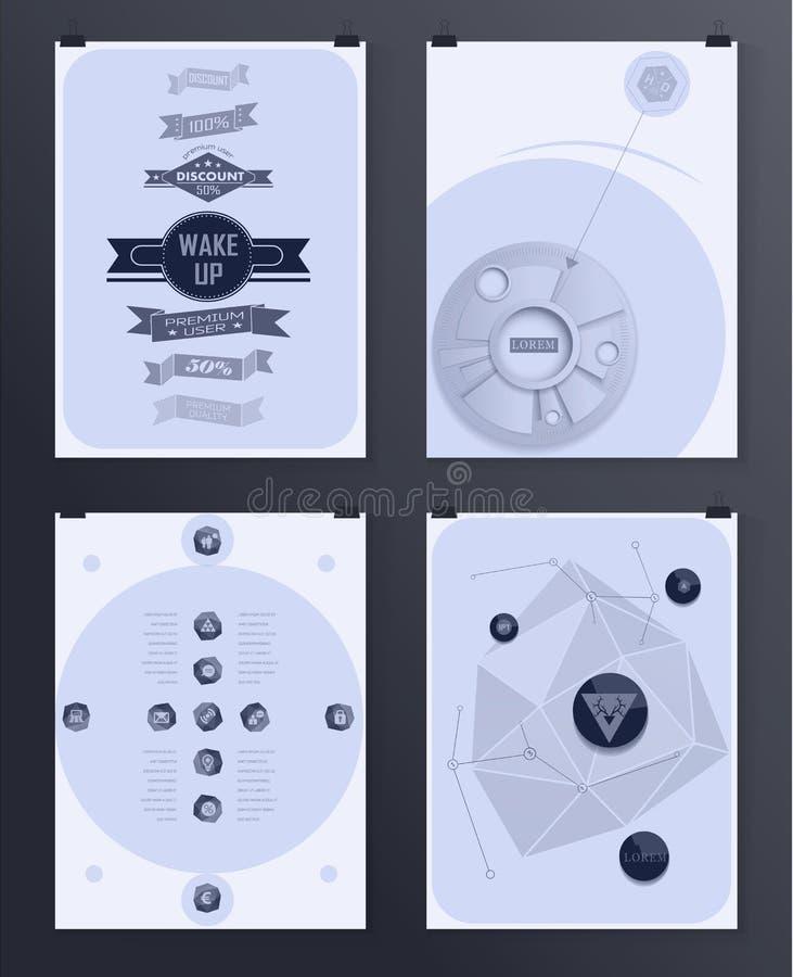Современный infographic плакат Справочная информация иллюстрация вектора