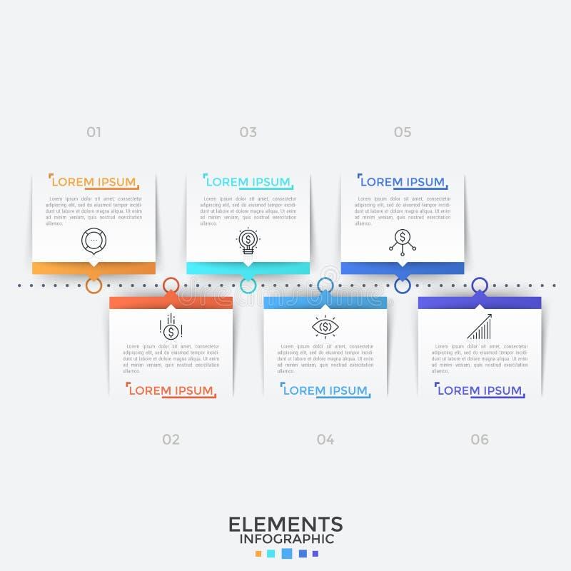 Современный infographic шаблон дизайна бесплатная иллюстрация
