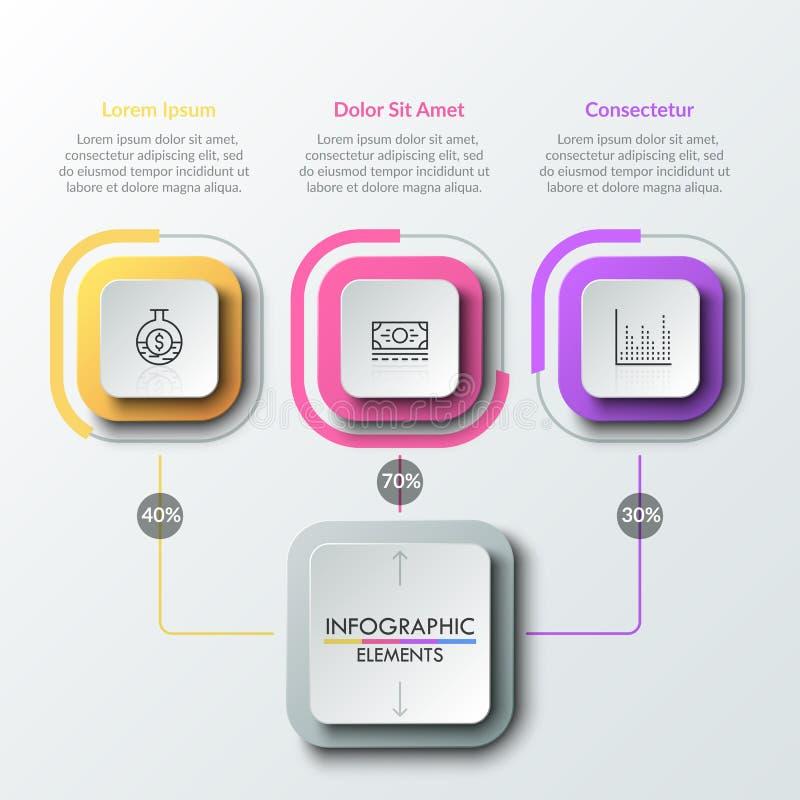 Современный infographic шаблон дизайна иллюстрация штока