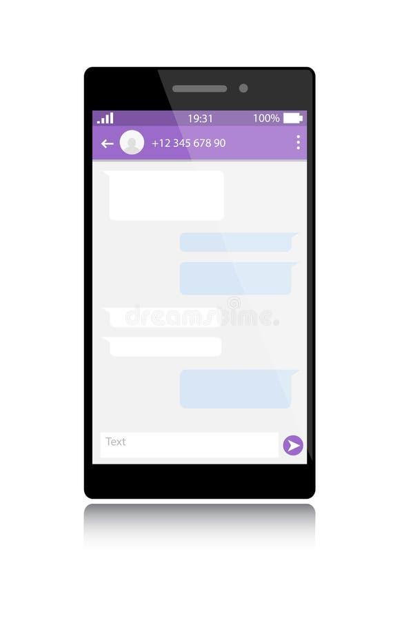 Современный smartphone с окном посыльного бесплатная иллюстрация