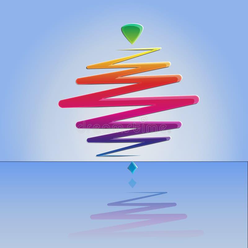 Download Современный Whirligig цвета, на абстрактной предпосылке Иллюстрация штока - иллюстрации насчитывающей pictogram, возрождение: 41660605