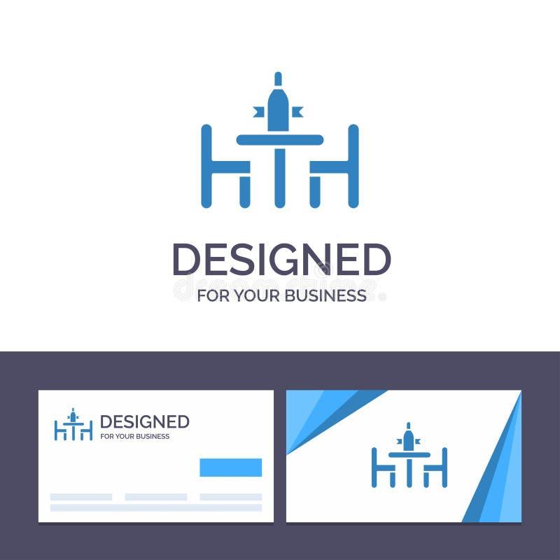 Согласование творческого шаблона визитной карточки и логотипа, конференция, спор, дипломатия, встречая иллюстрацию вектора иллюстрация штока