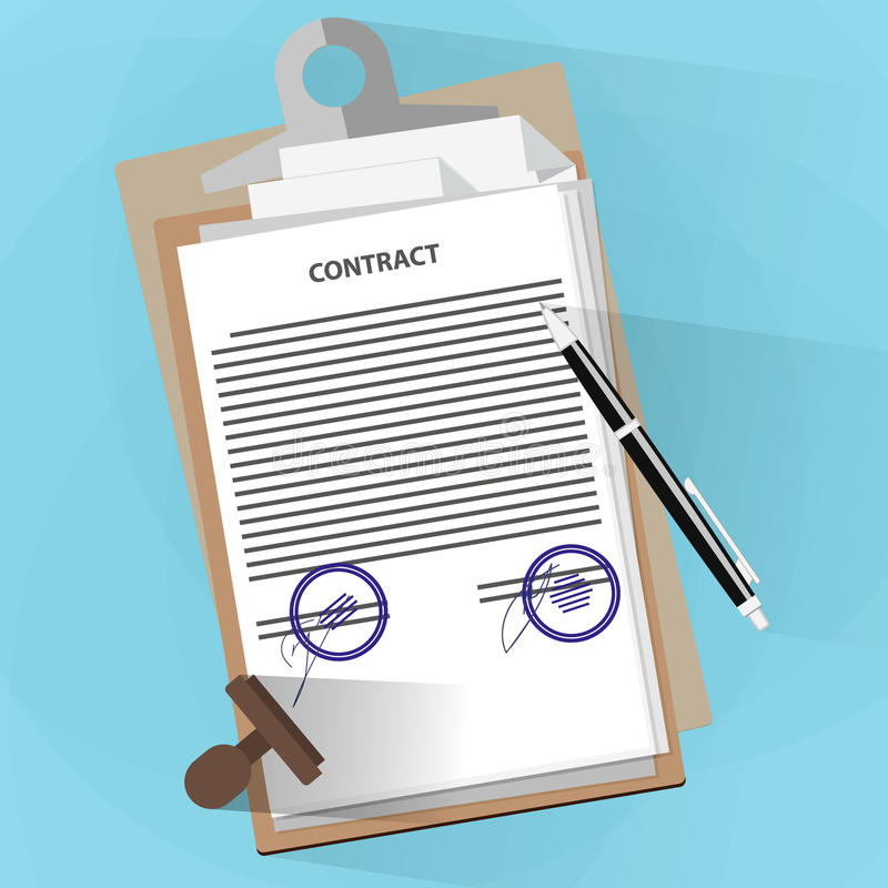 Согласование документирует концепцию иллюстрация штока