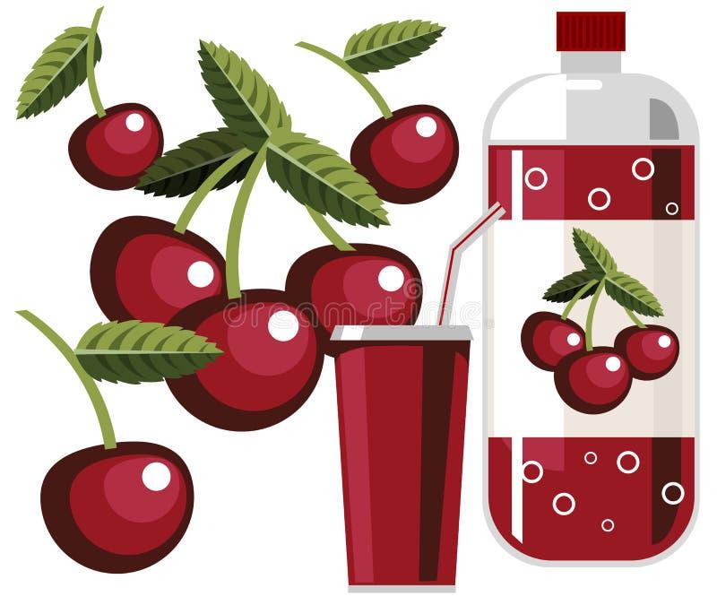 сода вишни иллюстрация вектора